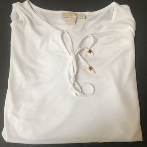 Michael KORS white top with logo , S , new